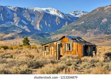Deserted cabin in the Eastern Sierra Nevada.