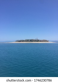 Deserted island with a lighthouse on it called the low isles located in the inner reef of the great barrier reef, Australia