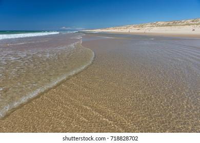 Deserted Lacanau South Beach, Gironde