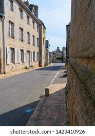 In the deserted narrow back streets of Granville, Normandy.