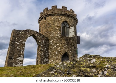 The deserted Old John folly in Bradgate Park, Leicestershire