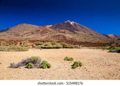 deserted view of Las Canadas National park with mount Teide, Tenerife, Spain