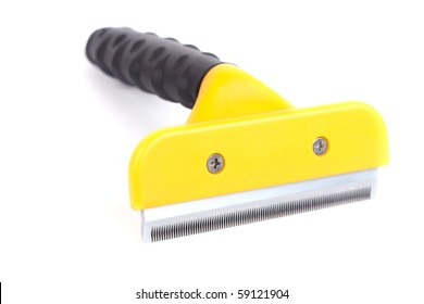 De-shedding tool. Isolated on a white background.