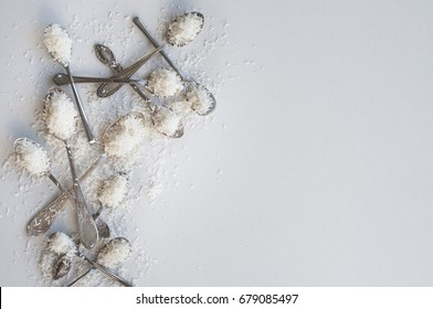 Desiccated Coconut (Food art, Cafe Composition, White on White)