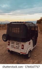 Desierto de la Tatacoa, Huila, Colombia. May 2019: Mototaxi, transportation in the desert.
