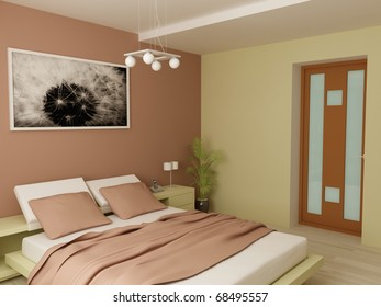 Design of apartment or house in modern style and beautiful colours