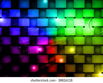Design background with creative colors and beauty effects