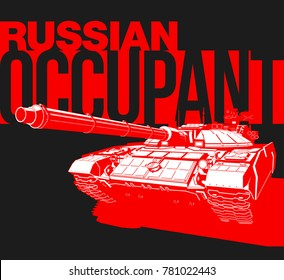 Design banner Illustration with tank