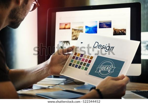 Design be Creative Inspiration Logo Konzept