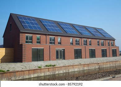 Design building with solar panels