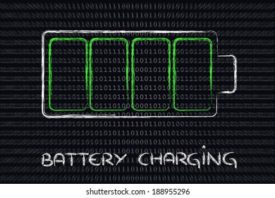 design of a charging battery level