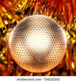 Design Christmas ball made of shiny diamonds. 3d illustration