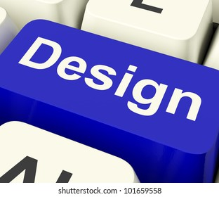 Design Computer Key Means Creative Artwork Online