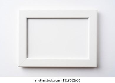 Design concept - white wood frame for mockup