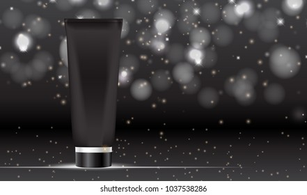 Design Cosmetics Product  Template for Ads or Magazine Background. 3D Realistic  Iillustration.