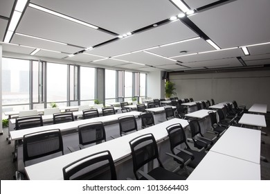 design and decoration of modern lecture hall in modern company