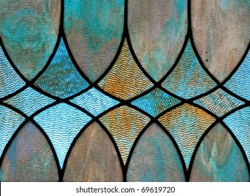Design detail of stained glass window