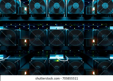 design element. 3D illustration. rendering. dark bitcoin cryptocurrency mining farm 3d background color image