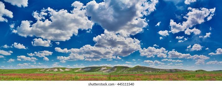 design element. color steppe landscape hi resolution image