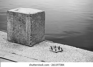 design element.  concrete blocks abstract construction
