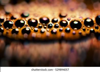 design element. home macro - coffee cup bubbles closeup