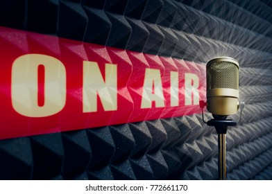 design element: professional microphone on air