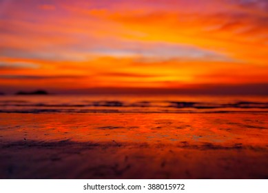 design element. sea sunset image