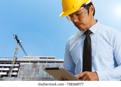 Design engineers are working at building sites.