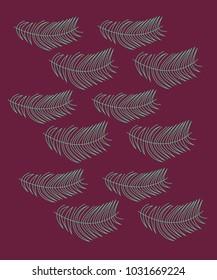 Design exotic leaves on choco jpg