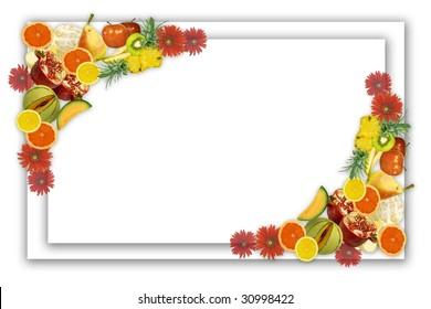 Design of framework from fresh fruit for  card