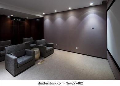 design and furniture in modern home theatre