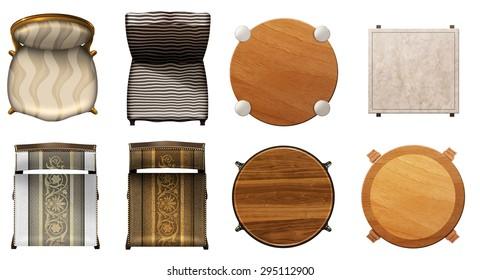 Design furniture set ,illustration