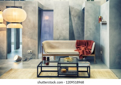 design of interior of studio style living