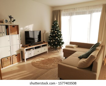Design living room at Christmas