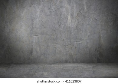 Design on cement wall and floor for pattern and background