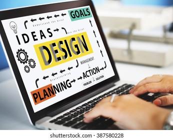 Design Process Ideas Goal Planning Action Concept