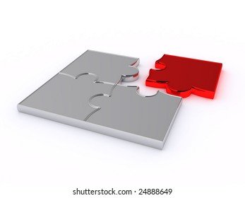 Design from puzzles on a white background