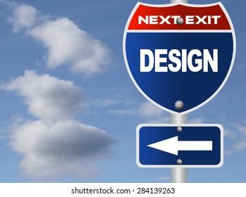 Design road sign