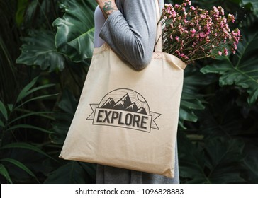 Design space on a tote bag