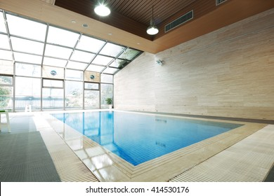 design of swimming pool in modern gym