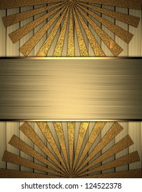 Design template - Background of gold plates and beams with gold nameplate.