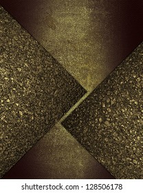 Design template - Grunge background with gold inserts of golden sand