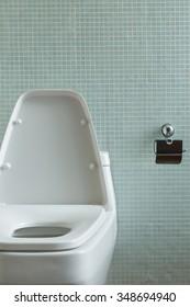 design toilet in modern bathroom interior decoration home