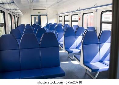 Designated in a railway carriage increased comfort blue.