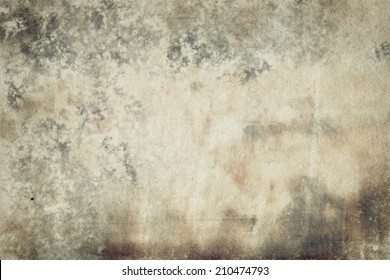 Designed abstract old stained moldy paper background
