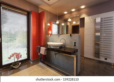 Red Bathroom Images Stock Photos Vectors Shutterstock