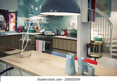 designed in country style kitchen
