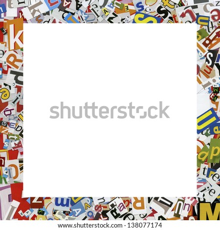 Designed Frame Collage Made Newspaper Clippings Stock Photo (Edit ...