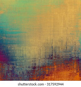 Designed grunge texture or background. With different color patterns: yellow (beige); red (orange); blue; purple (violet)