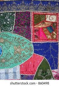 designed patchwork handmade on a cloth